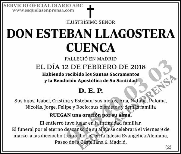 Esteban Llagostera Cuenca